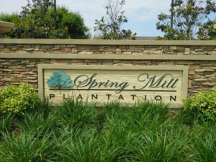 Spring Mill Plantation NC Entrance