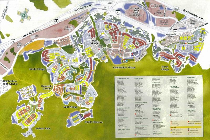 Worksheet. Map of Celebration Villages
